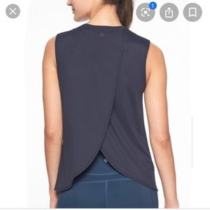 Athleta Sunlover Tank Flint Grey tulip back M